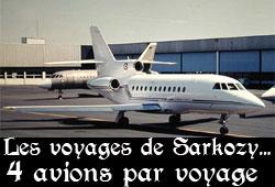 3 ou 4 avions par déplacement