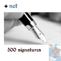 Les 500 signatures