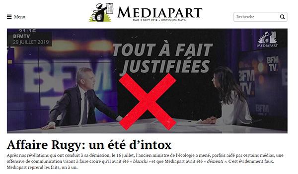Affaire de Rugy - Mediapart