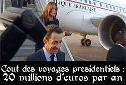 Avion, Sarkozy, Bruni