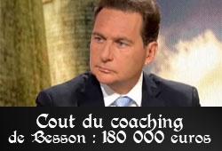 180 000 eruros de coaching pour Besson