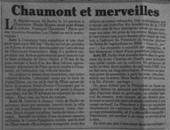 Canard Chaumont et merveilles