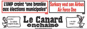 Canard Enchaîné, Air Force One de Sarkozy
