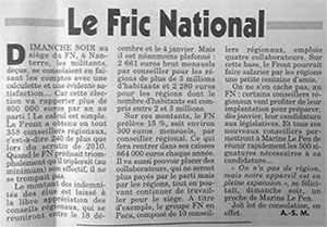Canard enchaîné - Front national
