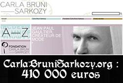 carla bruni sarkozy org Le site web de Carla Bruni a coûté 410 000 euros à lÉtat