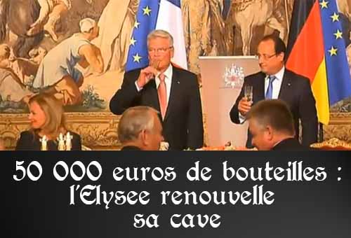 En 2014, l'Elysée va dépenser 50 000 euros de vin pour renouveler sa cave