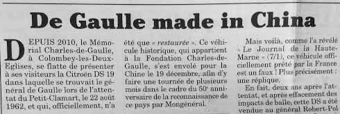 De Gaulle made in China