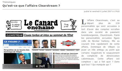 Dossier de l'affaire Clearstream