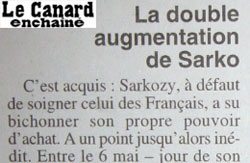 Double augmentation de Sarkozy