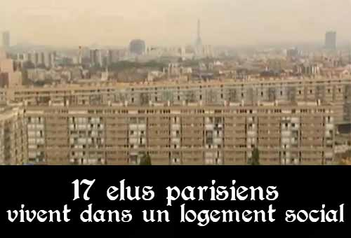 Elus parisiens, logement social