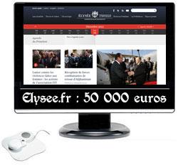 Elysee.fr, 50 000 euros