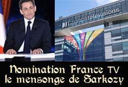 Emission TV de Nicolas Sarkozy sur France 2