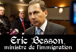 Eric Besson, ministre de l'Immigration