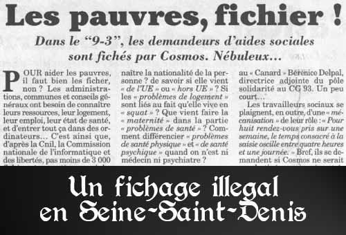 """Dans le département de Seine-Saint-Denis, les pauvres sont recensés dans un fichier baptisé """"Cosmos""""... en toute illégalité"""