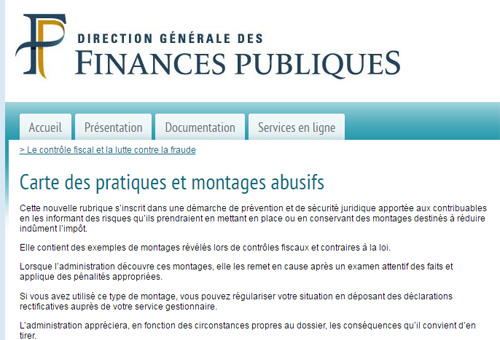 Fraudes fiscales - Bercy
