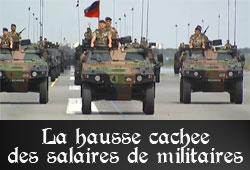 Hausse cachée des salaires des militaires