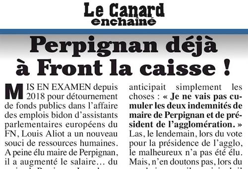 Hausse salaire du maire de Perpignan