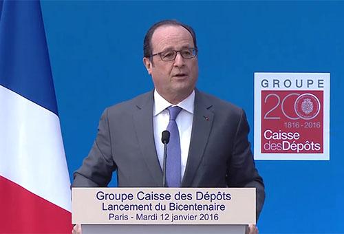 Hollande, caisse des dépôts 200 ans