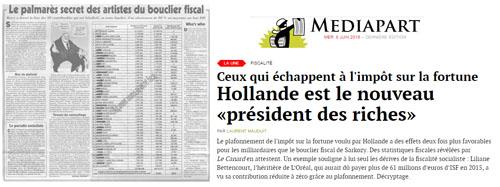 Hollande, président des riches