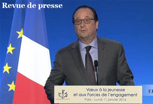 Hollande, voeux à la jeunesse