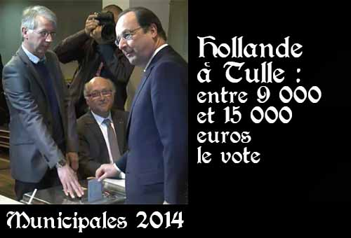 Hollande vote à Tulle