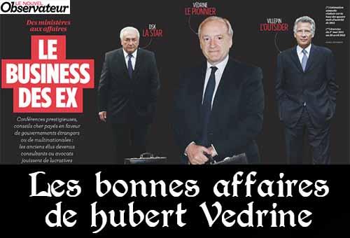 Hubert Védrine, le socialiste qui vaut 770 000 euros par an