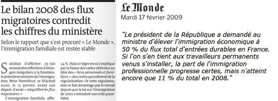 Immigration, Le Monde