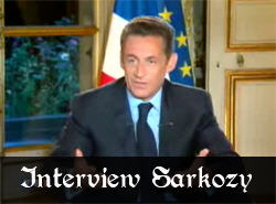 Interview de Sarkozy