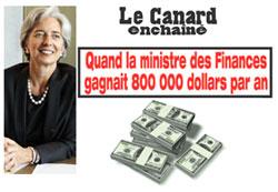 Lagarde et son salaire à 800 000 dollars