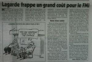 Lagarde, campagne, FMI