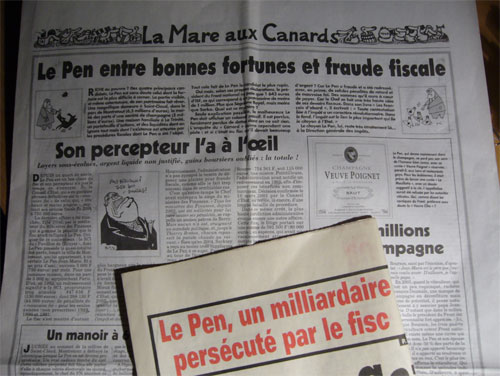 Le Pen, milliardaire