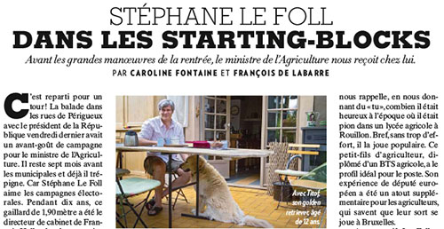 Le Foll sur les starting blocks (Paris Match)