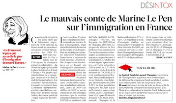 Le Pen et l'immigration