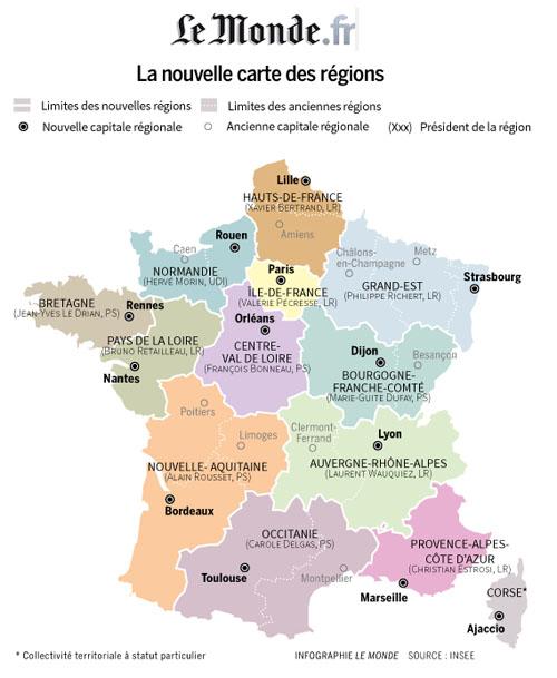 Comment S Appellent Les Nouvelles Regions Francaises