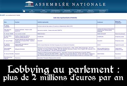 Lobbying au parlement