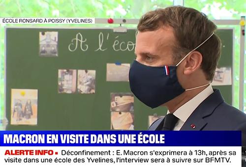 Macron masques