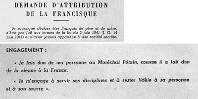 Mitterrand et la francisque