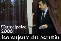 Municipales 2008, vote Sarkozy