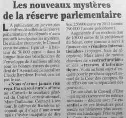 Les mystères de la réserve parlementaire