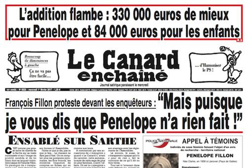 Penelope Fillon - Affaire Canard enchaîné