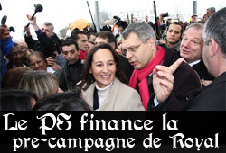 Le PS finance Ségolène Royal