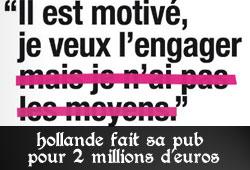 La publicité de François Hollande