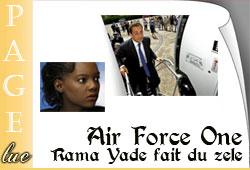 Rama Yade Avion Sarkozy