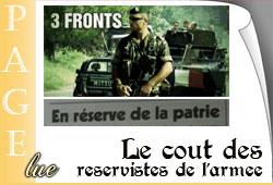 Réservistes de l'armée française