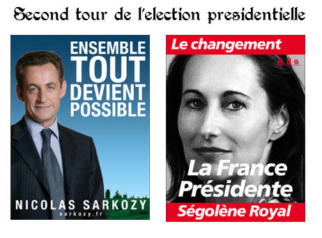 Royal et Sarkozy au second tour