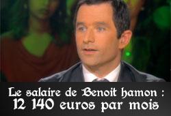 Le salaire de Benoît Hamon : 12 140 euros par mois grâce à son bonus de 2 200 euros de conseiller régional