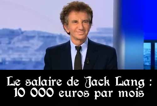Salaire de Jack Lang