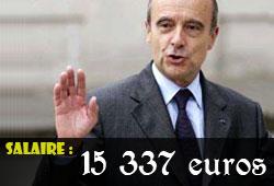 Le salaire d'Alain Juppé