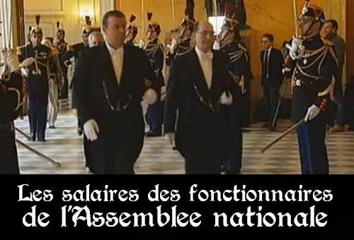 Les fonctionnaires de l'Assemblée nationale gagnent, en moyenne, 7 862 euros brut par mois, avec un taux de primes de 120%