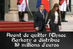 Sarkozy et la cagnotte ministérielle